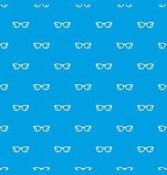 Eyeglasses pattern seamless blue vector