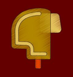 flat shading style icon ski helmet vector image