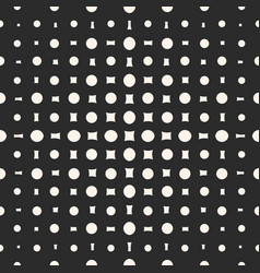 Geometric halftone pattern with circles vector