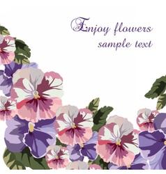 Geranium Watercolor flowers vector