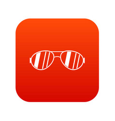 glasses icon digital red vector image