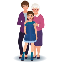 Grandmother with daughter and granddaughter vector image