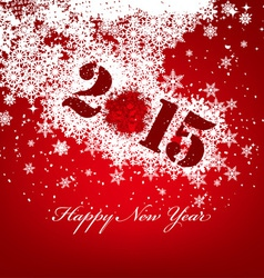 Happy new year with snowflakes vector