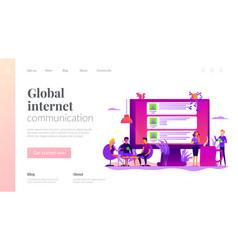 internet forum landing page template vector image