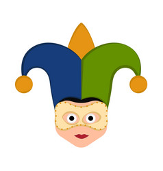 Isolated man avatar with mardi gras ornaments vector