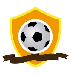 Isolated soccer emblem vector