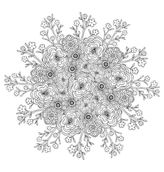 Mandala with flowers pattern Adult vector