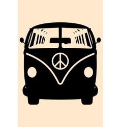 Minivan Hippie vector