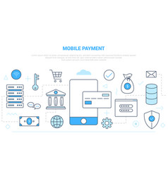 Mobile payment technology concept with various vector