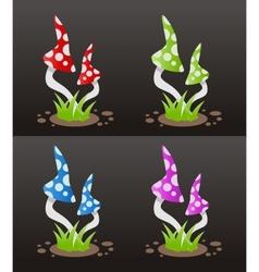 mushroom poison vector image