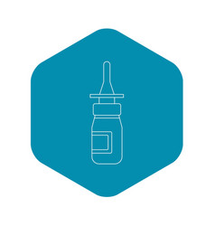 Nasal drops icon outline style vector