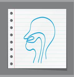 Neck nose ears vector