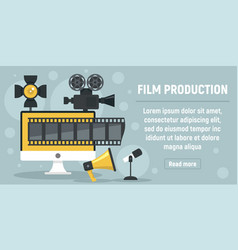new film production concept banner flat style vector image