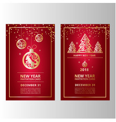 New year banners vector