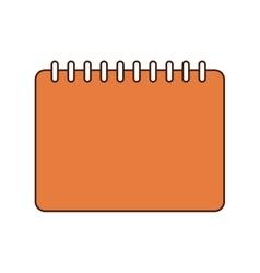 Notebook class school instrument icon vector