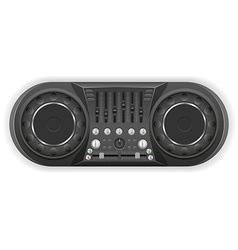 Panel console sound mixer 04 vector