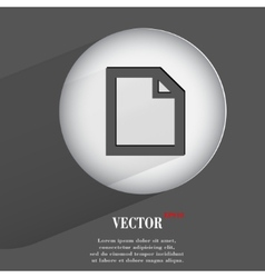 paper Flat modern web button with long shadow and vector image
