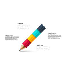 pencil infographic education concept for vector image
