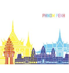 Phnom penh skyline pop vector