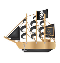 pirate galleon vector image