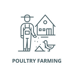 poultry farming line icon linear concept vector image