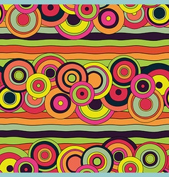 psychedelic circles pattern vector image
