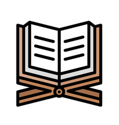 Quran ramadan related filled icon vector