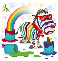 Rainbow zebra vector