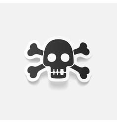 Realistic design element skull vector