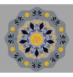 Round flowers pattern background vector
