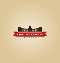 Saint Petersburg Russia city symbol vector image