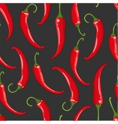 Seamless pattern on dark with chilli pepper vector