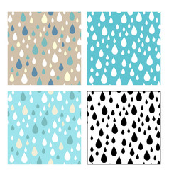 seamless patterns of raindrops vector image
