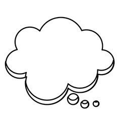 silhouette cloud chat bubble icon vector image
