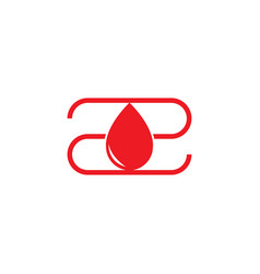 Simple letter z drop water blood donor logo vector