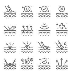 skin care line icon set vector image