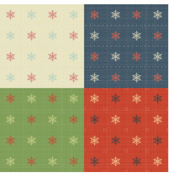 snowflakes patterns set vector image