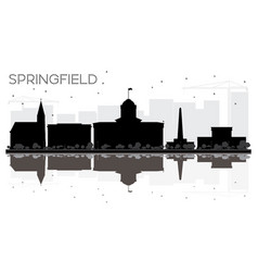 Springfield illinois city skyline black and white vector