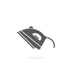 steam iron icon on white background vector image