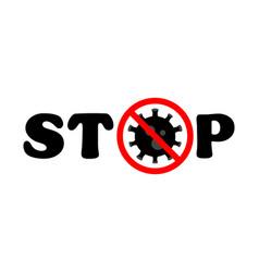 stop virus black text virus outbreak protection vector image