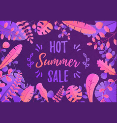 summer sale beautiful vector image