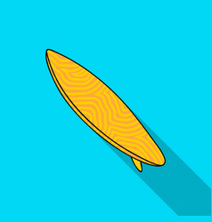 surfboard icon in flate style isolated on white vector image