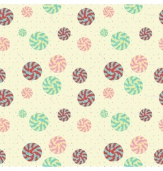 Sweet candy pattern vector image