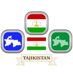 symbol of Tajikistan vector image vector image