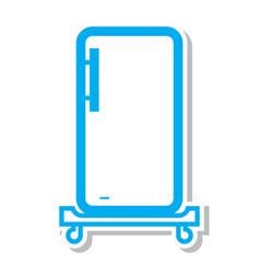 Thin line refrigerator icon vector