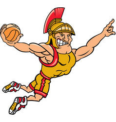 Trojan sports logo mascot basketball vector
