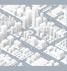 urban district of the city vector image