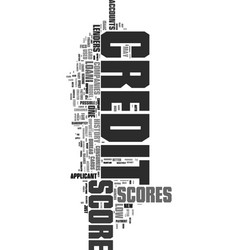 Your credit scores again text word cloud concept vector