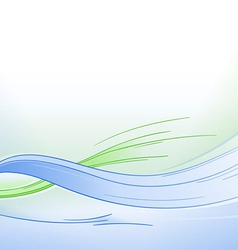 Blue and Green Waves Background vector image