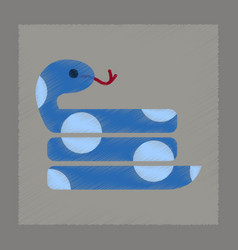 flat shading style icon reptile snake vector image vector image
